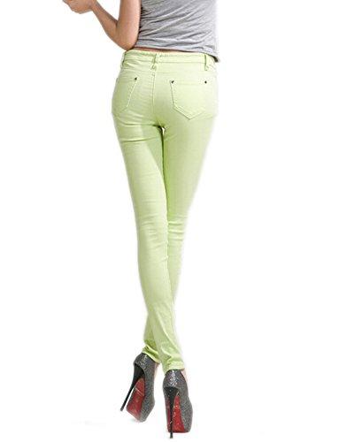 Mujeres Verde Pantalones Básica Juniors Piernas Flacas Claro Deley Vaqueros Jegging UxSw8Ud