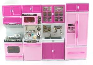 Amazon Pink Deluxe My Modern Barbie Size Kitchen Stove Fridg