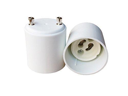 3 Pack, Mansa Lighting, GU10 to GU24 Bulb Adapter, Use This Adapter to Plug a GU10 (Bayonet Mount) Based Bulb Into a GU24 (Bayonet Mount) Light Fixture, Maximum Wattage Is 75W