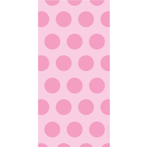 Polka Dot Cello Bags (Pastel Pink Polka Dot Cellophane Bags (20 ct))