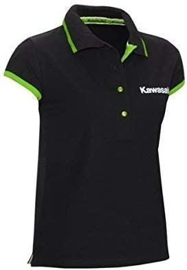 Kawasaki Deporte Mujer Camisa Polo Negro - XL / 2XL: Amazon.es: Coche y moto