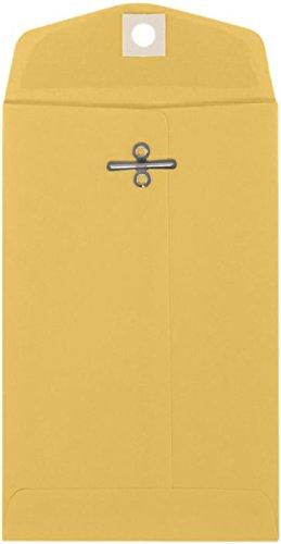 4'' x 6 3/8'' Open End Envelopes - 32lb. Brown Kraft (50 Qty.)