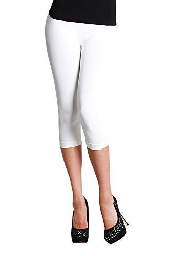 Nikibiki Womens Seamless Capri Leggings One Size (Seamless Capri Leggings)