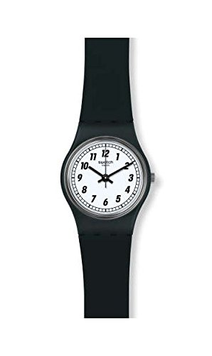 Swatch Women's Something Black LB184 Silicone Swiss Quartz Fashion Watch