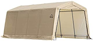 ShelterLogic 10' x 20' x 8' All-Steel Metal Frame Peak Style Roof Instant Garage and AutoShelter with Waterproof and UV-Treated Ripstop Cover (B001OFNK8O) | Amazon Products