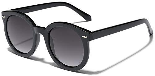 Vintage Retro 80's Round Frame Women's Fashion Sunglasses ()