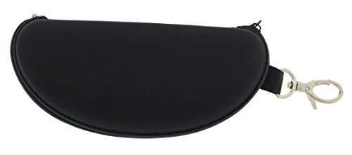 Unisex Nylon Hard, Zippered Sunglass Case with Swivel Keychain Hook (6.75