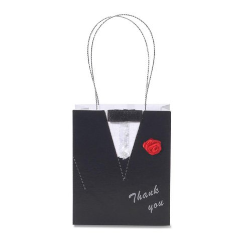 Darice Tuxedo Embellished Wedding Favor Bags