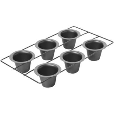Exclusive 6 Cup Popover pan By Focus Electrics