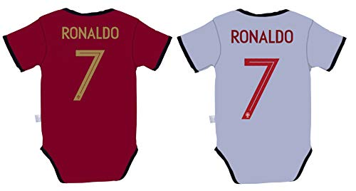 cb50d6ef3 Rhinox EKSport Cristiano Ronaldo #7 Portugal Soccer Jersey Baby Infant and Toddler  Onesie Romper Premium Quality - Home and Away PACK OF 2 (9-12, Pack of 2)