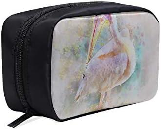 Bolsa de maquillaje Cute Pelican Pink Bird Nature Beak Carrera de plumas Bolsa para hombres que viajan Bolsa de maquillaje Bolsas de cosméticos para adolescentes Bolsas de cosméticos Estuche multifun: Amazon.es: Belleza