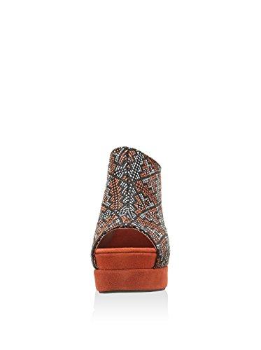 Jeffrey Campbell Virgo Orange Fabric sandalo donna 41