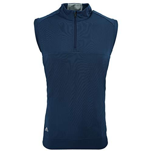 - adidas Golf Mens Quarter-Zip Club Vest (A271) -Dark Slate -S