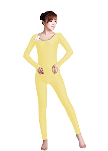 WOLF UNITARD Long Sleeve Unitard Bodysuit Dancewear Small Yellow