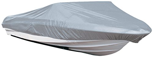 Polyester Boat Reflective Cover - Leader Accessories 210D Polyester Grey Mooring Runabout Boat Cover Fit V-hull Tri-hull Fishing Ski Pro-style Bass Boats (17'-19'L Beam Width up to 96'')