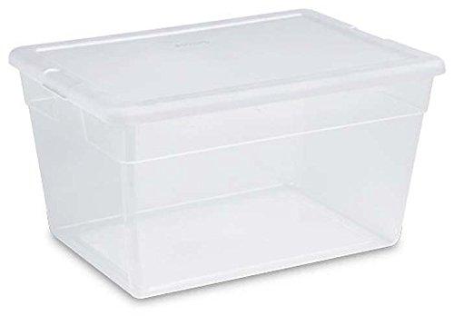 Sterilite 56 Quart Clear Storage Box See-through with White
