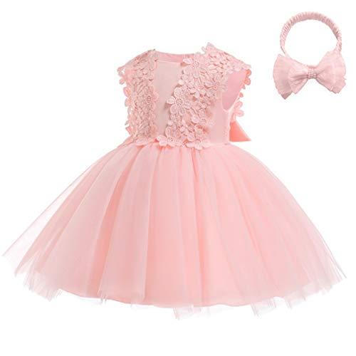 Cinderella Dress Princess Costume Halloween Party Dress up(Pink,18M/80CM)]()