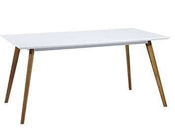 Tischplatte weiß matt  Cagusto® Esstisch Frederik der Große, 160x90x75, Tischplatte weiß ...