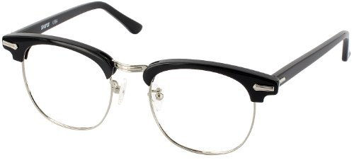 Ronsir 50 (Men's Average Fit) Single Vision Full Frame Designer Reading Glasses, Black with Silver, +1.50 by - Glasses Shuron