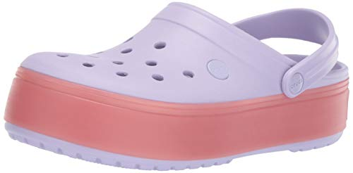 Crocs Crocband Platform Clog Shoe, lavender/melon, 6 US Men/ 8 US Women M US
