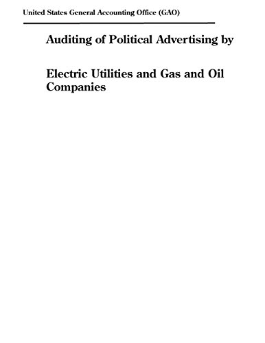 Auditing of Political Advertising by Electric Utilities and Gas and Oil Companies