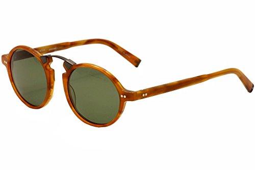 John Varvatos Mens V605 V605BUT50 Polarized Round Sunglasses, Butterscotch, 50 - Butterscotch Base