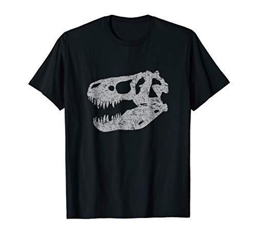 T-REX SKULL T-SHIRT Tyrannosaurus Rex Dinosaur Fossil Shirt