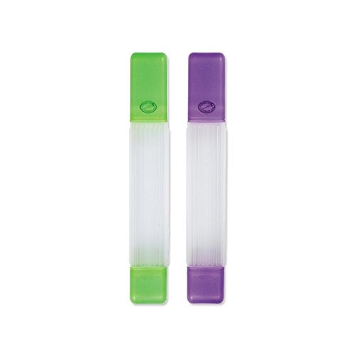 Clover Knitting Needle Tube Cases, 1 Green, 1 Purple, with Storage
