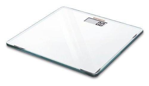Soehnle Slim Design White Personal Scale, Digital, Glass, 15