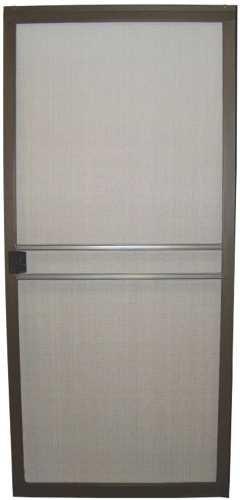 RITE SCREEN COMPANY GIDDS-284476 Adjustable Patio Screen Door, Heavy-Duty, Painted Bronze Frame, 36''