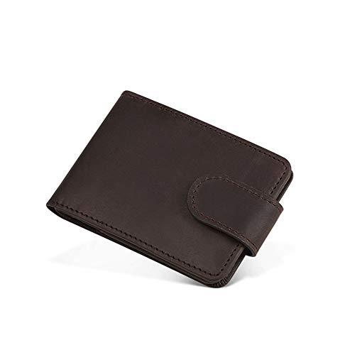 Minimaliste Pochette Hommes Portefeuille Dark Carte À Luxe Brown Zippée Monnaie F65h45f6 Avec Cuir couleur Mini De Brown Pour Light Rfid zpxPwnEqRd