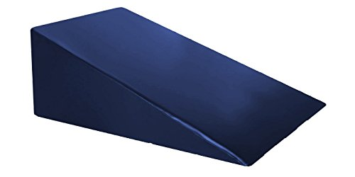 "Vinyl Covered Foam Positioning Wedge Support Pillow (24"" X 24"" X 10"") Navy"