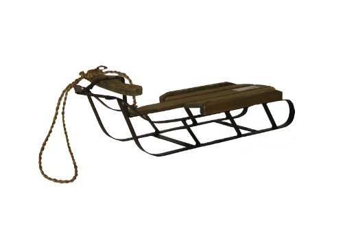 Craft Outlet 17 by 6 by 4.5-Inch Wooden Sleigh, Medium