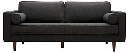 Rivet Aiden Mid-Century Sofa with Tapered Wood Legs, 74