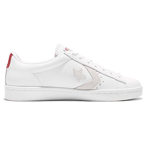 Converse Pl76 Ox White / Varsity Red Fashion Sneaker