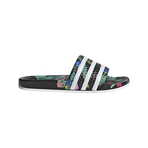 adidas Originals Men's Adilette Slide Sandal,Black/White/Black,12 M - Sandal Adidas Adissage Womens