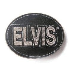 Elvis Presley Black Belt Buckle