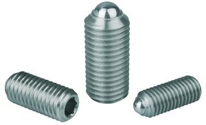 M3 x 9mm Hex Socket Stainless Steel Ball Style Heavy End Pressure Spring Plunger by KIPP INC