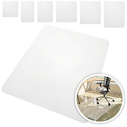 Rapid Teck ® Tapetes de Proteccion para Suelos Duros en 6 Tamanos Estera para Silla de Oficina Estera Protectora de Suelo Semi Transparente - Semi Transparente, 90cm x 90cm