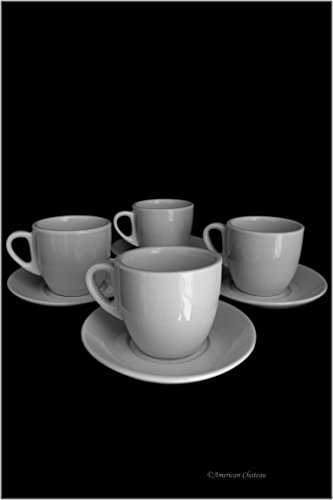 8 oz porcelain coffee cups - 4