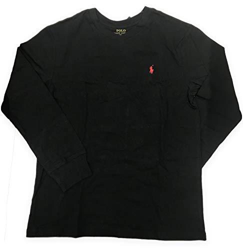 Polo Ralph Lauren Boy's V Neck Long Sleeve (Medium (10-12), Black)