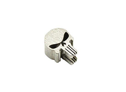 AIBER Titanium Skull Punisher Shape Knife Lanyard EDC Zipper Charm Pull Paracord Necklace Bead Pendant Hole Diameter 0.24 Inch (Skull - Cell Zipper Charm Pull Phone