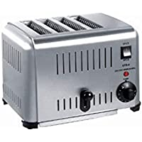 FUZION High Grade Stainless Steel pop up 4 Slice Commercial Toaster with Stainless Steel for Bread Toasting