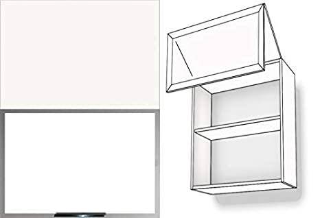 Armadio da cucina pensile bi-fold 1 ripiani in vetro opaco ...