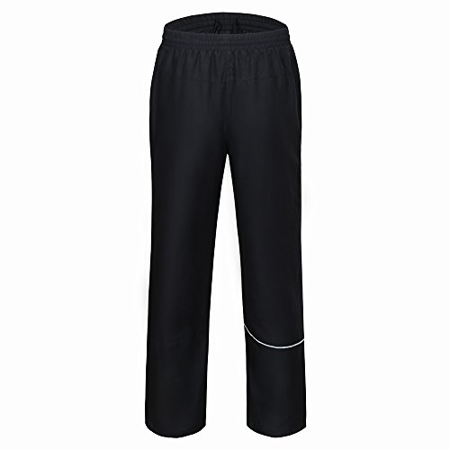 MIER Mens Track Pants Athletic Pants with Pockets for Running, Exercise, Black