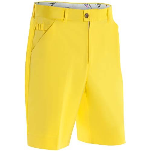 (Royal & Awesome YOLO Yellow Bright Mens Golf Shorts - 36