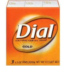 Dial 12402 Dial Gold 3-Pack 4-Oz. Antibacterial Soap Bars Hand & Bath Soap (Dial Bar Gold)