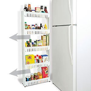 Amazon.com: Slim Storage Cabinet Organizer Slide Out Cart Rack With Wheels  For Narrow
