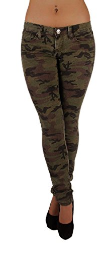 's Plus Size Classic 5 Pockets Camouflage Skinny Jeans Size 18 ()