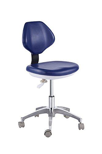 Dental Medical Chair for Dentist Doctor's Stool Adjustable Mobile Chair PU Leather Black(14#)